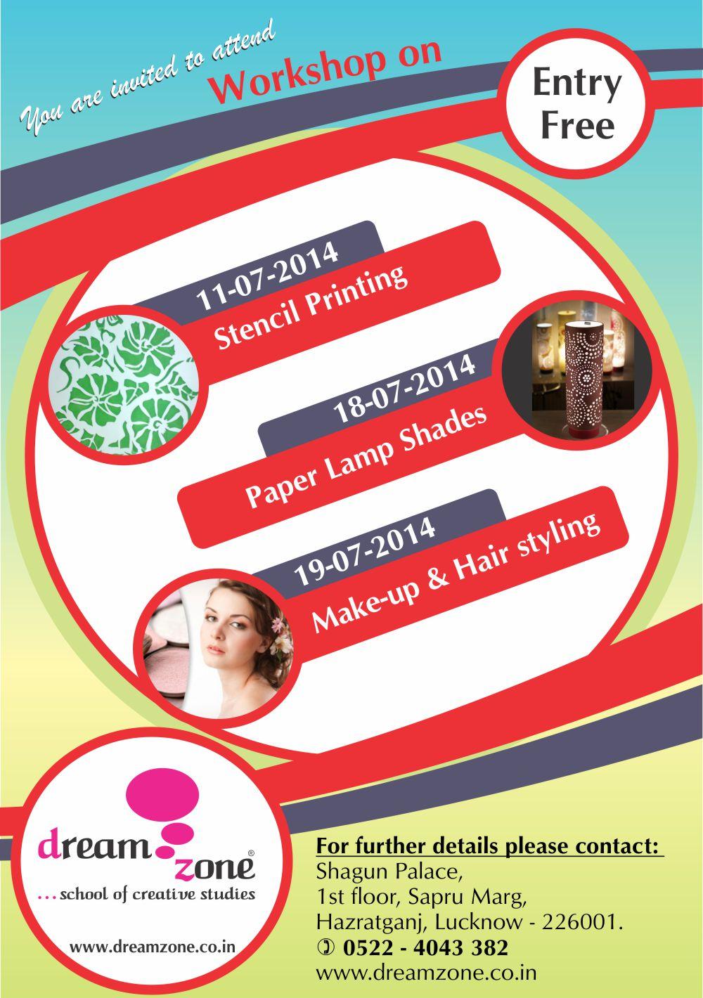 Dream Zone Hazratganj Workshop On Interior And Fashion Design Best Graphic Architecture Courses Training Institute